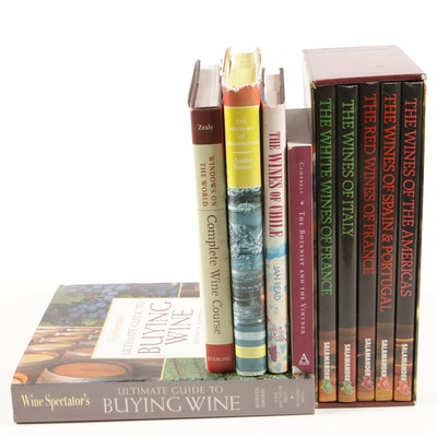 """Five-Volume Boxed Set """"Classic Wines of the World"""" with More Books on Wine"""