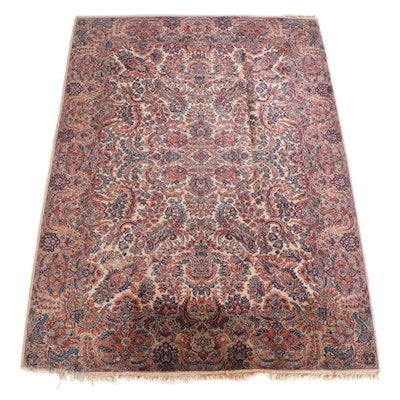 8'7 x 12'0 Hand-Knotted Persian Kirmin Wool Rug