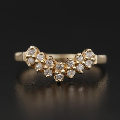 14K Yellow Gold Diamond Enhancer Ring