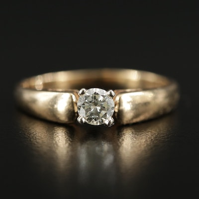 14K Yellow Gold 0.32 CTW Diamond Ring