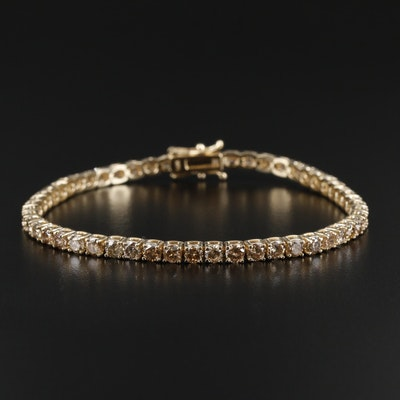 14K Yellow Gold 6.21 CTW Diamond Line Bracelet
