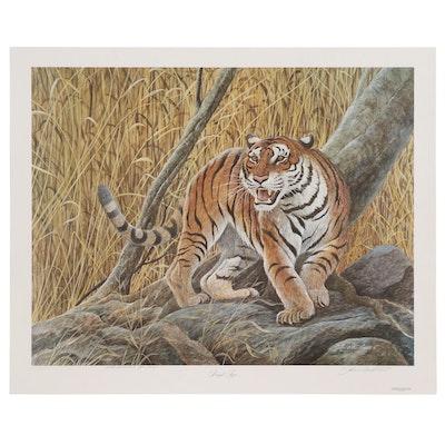 "John Ruthven Bengal's Edition Offset Lithograph ""Bengal Tiger"""
