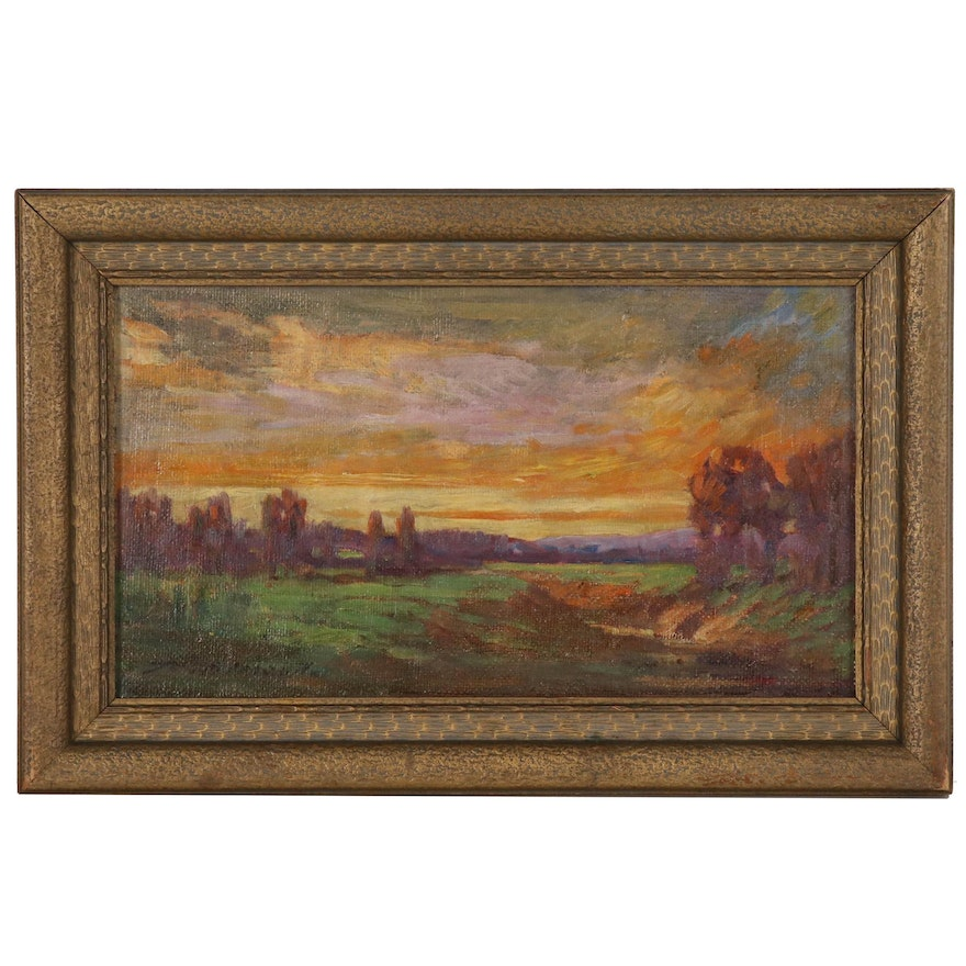 Thomas Jefferson Willison Autumn Landscape Oil Painting