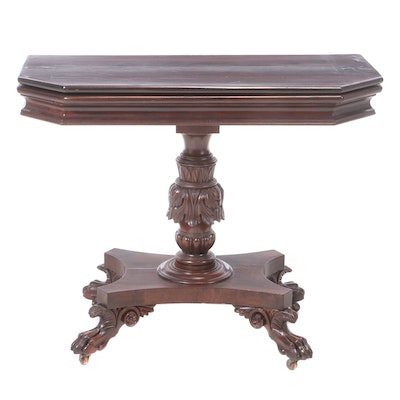 Classical Mahogany Card Table, after Anthony Quervelle, circa 1830
