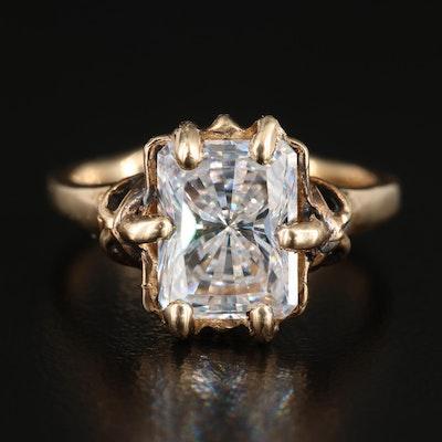 14K Gold Cubic Zirconia Ring