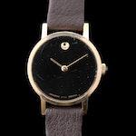 Vintage Movado/Zenith Museum Gold Tone Stem Wind Wristwatch