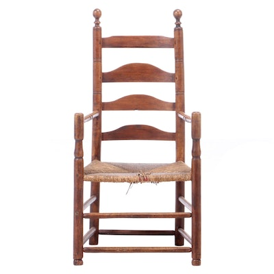 Early American Ladder-Back Armchair, Early 19th Century