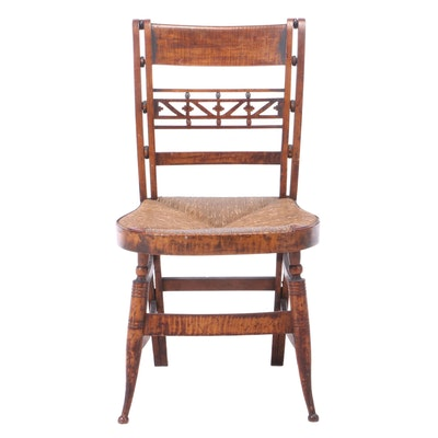 "Curly Maple ""Fancy"" Side Chair, Early 19th Century"