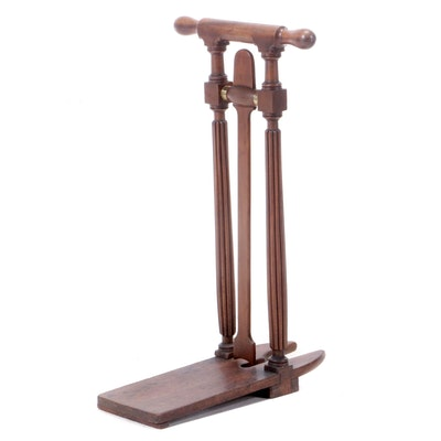 Early Victorian Mahogany Boot Jack, Manner of Gillows, circa 1840