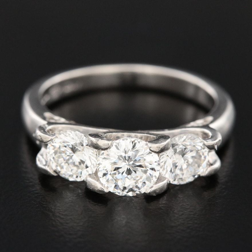 Roberto Coin Platinum 1.75 CTW Diamond Ring with GIA Report