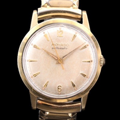 Vintage Movado Two Tone Stainless Steel Automatic Wristwatch