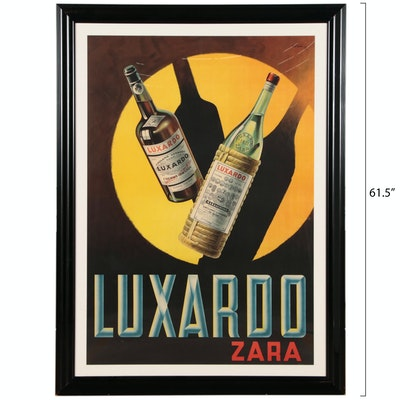 Armando Pomi Lithographic Poster for Luxardo Cherry Liqueur