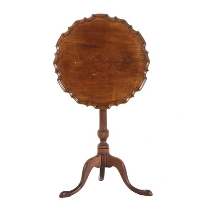 George III Mahogany Piecrust Tripod Table, Late 18th/Early 19th Century