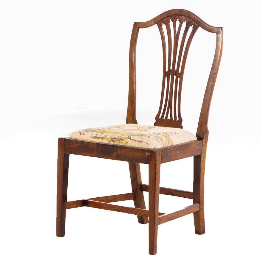 Hepplewhite Mahogany Side Chair with Slip-Seat, Late 18th Century