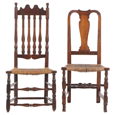 Two American Side Chairs, Mid to Late 18th Century