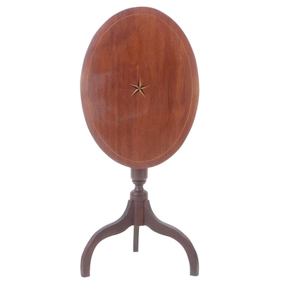 Federal Style Mahogany Tilt-Top Candlestand, Late 19th / Early 20th Century
