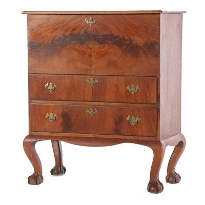 Chippendale Style Mahogany Mule Chest, Late 19th/Early 20th Century
