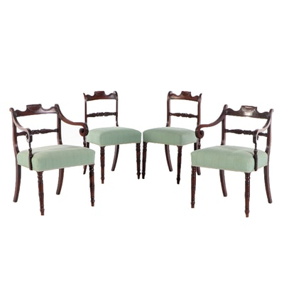 Four Regency Mahogany Dining Chairs, Early 19th Century