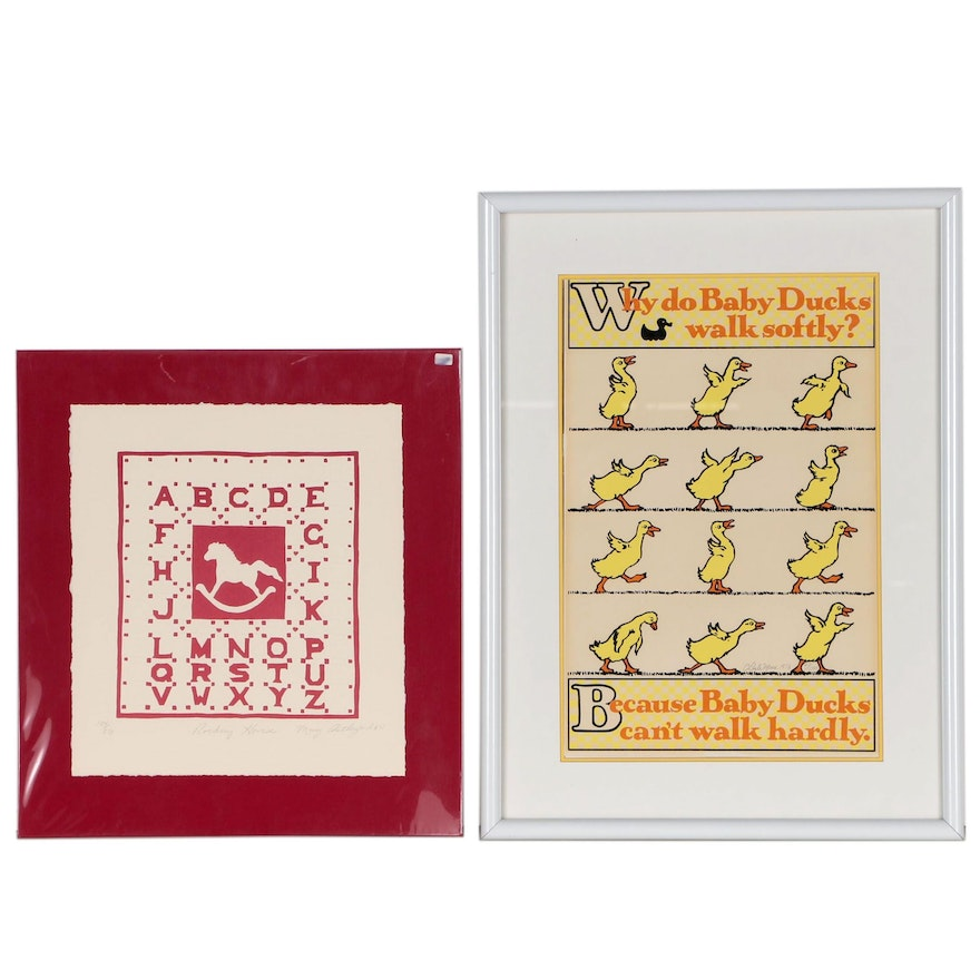 C. Dale Moore Serigraph of Baby Ducks and More