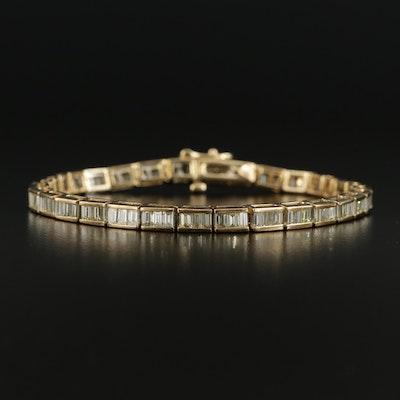 14K 6.91 CTW Diamond Line Bracelet