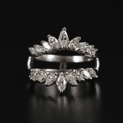 14K White Gold 1.50 CTW Diamond Enhancer Ring