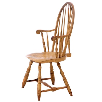 American Brace-Back Painted Windsor Armchair, Late 18th Century