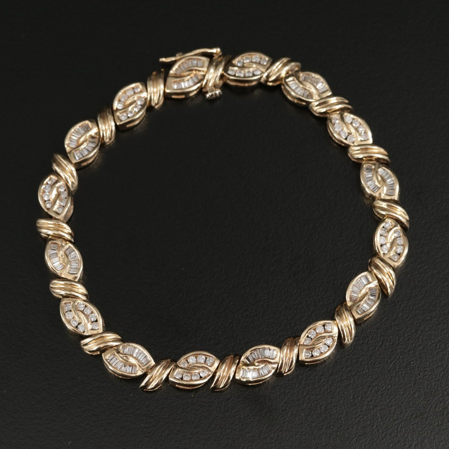 14K Gold 2.02 CTW Diamond Bracelet