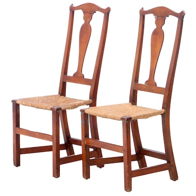 Pair of Queen Anne Birch Side Chairs, Late 18th Century