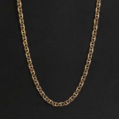 14K Yellow Gold  Mariners Curb Chain