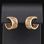 Poiray 18K Yellow Gold Intertwined Heart Hoop Earrings