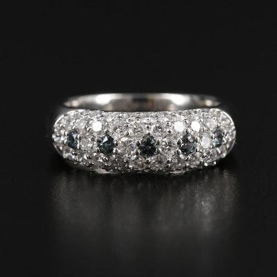 Platinum 0.95 CTW Diamond and Alexandrite Ring