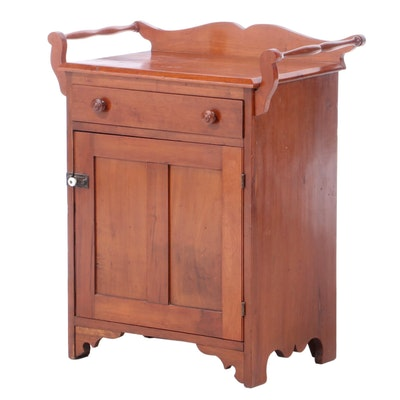 American Primitive Cherry Washstand, Mid-19th Century