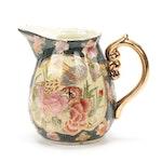 Chinese Satsuma Style Moriage Porcelain Pitcher