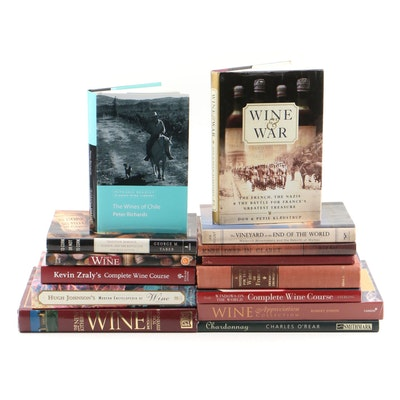 Chardonnay, Claret, Malbec and Other Wine Related Books including Signed