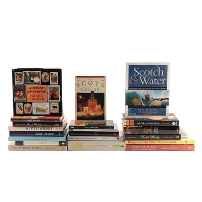 """Signed """"Scotch & Water"""" by Neil Wilson with Other Scotch Whisky Books"""