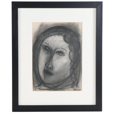 "Francisco Borés Lithograph ""Drawing of a Head"" for ""Verve,"" 1939"