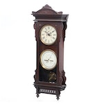 Waterbury #25, Eastlake Style Carved Walnut Calendar Clock, Late 19th Century