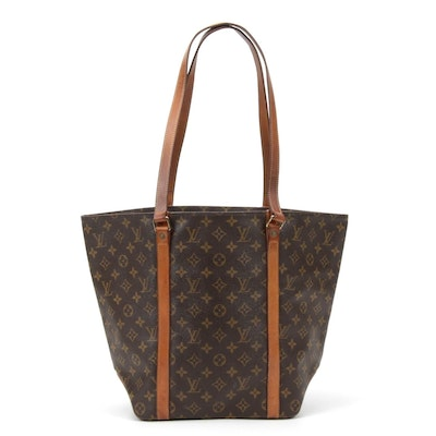 Louis Vuitton Babylone Tote Bag in Monogram Coated Canvas and Vachetta Leather