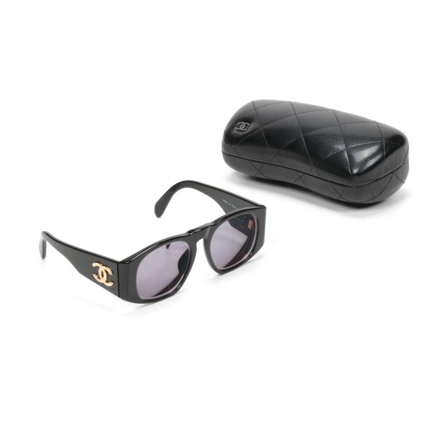 Chanel 01451 CC Black Sunglasses with Case