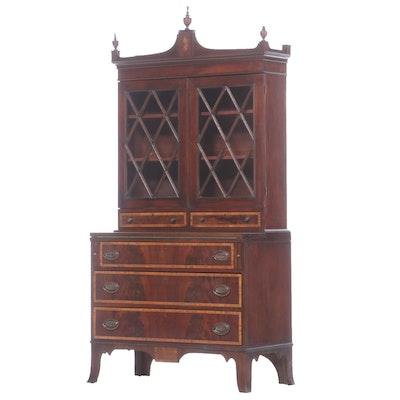 Hepplewhite Mahogany Secretary Desk, Early to Mid 19th Century