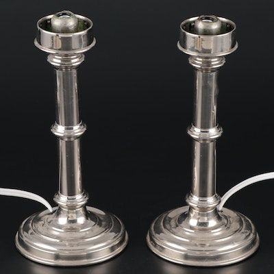 Sherwood Birmingham Converted Candlestick Table Lamps