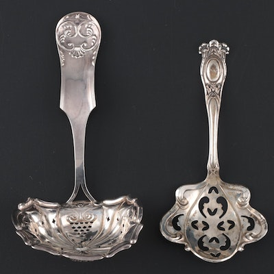 Baker Manchester Mfg. Co and English Sterling Tomato Server and Ladle