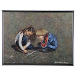Lucelle Raad Oil Painting of Children Playing