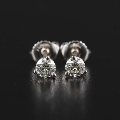 Hearts on Fire 18K White Gold 0.65 CTW Diamond Stud Earrings