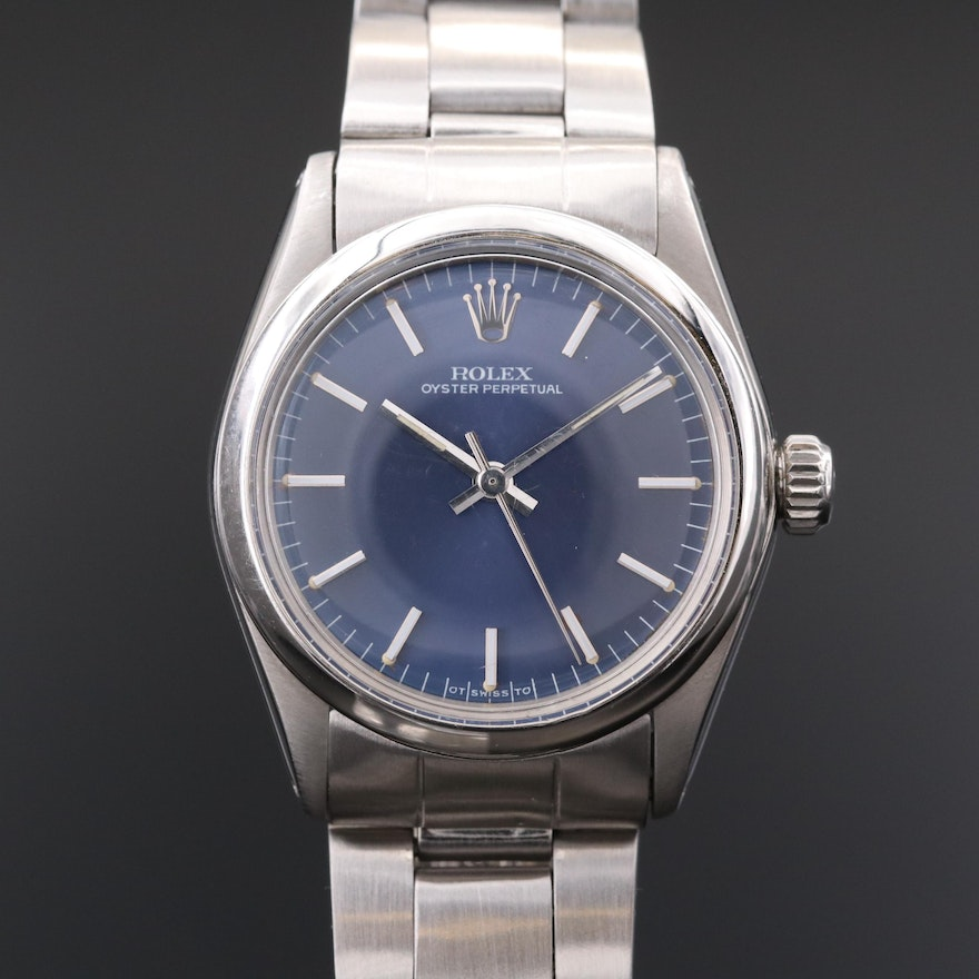 Vintage Rolex Oyster Perpetual Midsize Stainless Steel Automatic Watch, 1973