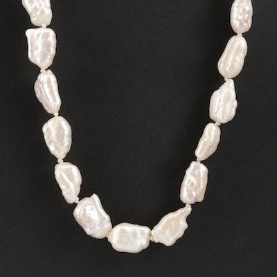 Strand of Semi-Baroque Pearls