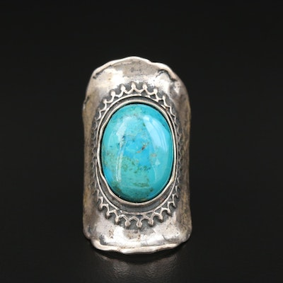 Didae Sterling Turquoise Saddle Style Ring