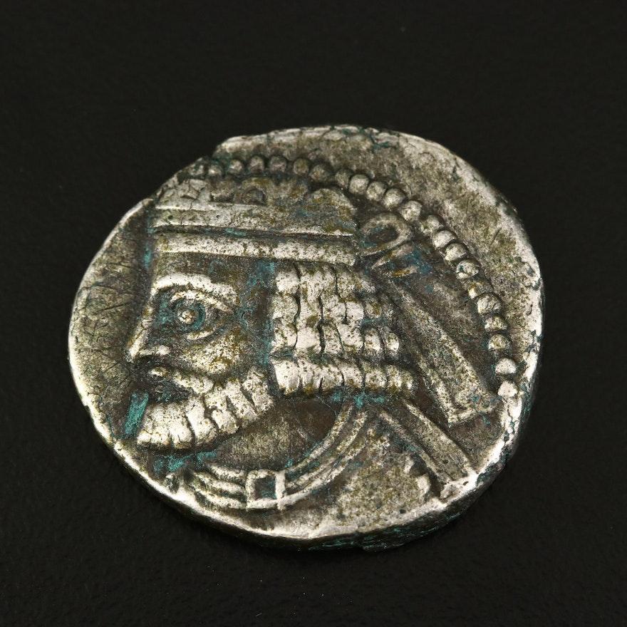 Ancient Parthian Empire AR Tetradrachm of Vologases I, ca. 240 B.C.