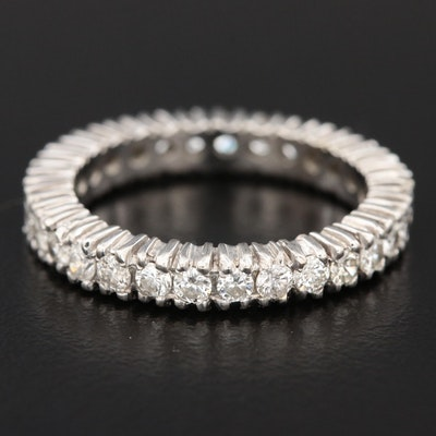 14K White Gold 1.23 CTW Diamond Eternity Band