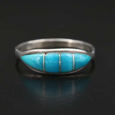 Southwestern Sterling Silver Turquoise Band